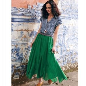 Anthropologie Vanessa Virginia Colima Maxi Skirt L
